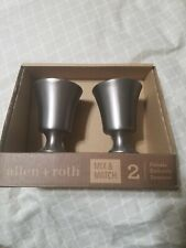 Allen + Roth Mix & Match Brushed Nickel Aluminum Curtain Rod Finials #0773157