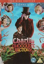 CHARLIE AND THE CHOCOLATE FACTORY DVD (2 DISC DVD) NEW/SEALED