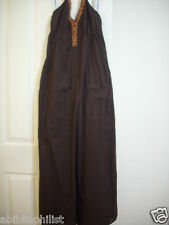 ESPRIT DRESS MAXI COTTON LONG Junior SLEEVELESS BROWN Women EMPIRE NEW