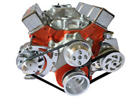 Small Block Chevy Serpentine Pulley Conversion Kit ALT PS Long WP SBC LWP 1