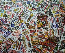 10 Mixed Sheets Random Stickers Motocross Car ATV Racing Dirt Bike Helmet Decal