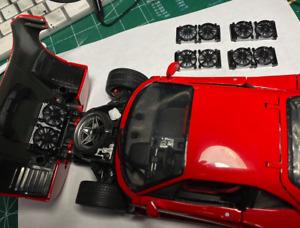 1/18 Ferrari F40 Fan Radiator in ABS like resin