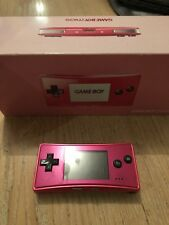 Nintendo Game Boy Micro Pink Handheld System - Excellent condition!