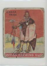 1933 Goudey Indian Gum R73 Series 24 #16 Chief of the Omaha Tribe Card z6d