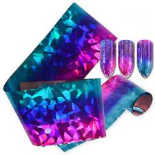 Holographic Nail Art Transfer Tape Foils Snowflake Broken Glass Marble Flowers