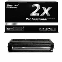 2x Pro Cartridge Black for Ricoh Aficio Sp C-242-dn Sp C-312-dn Sp C-311-n