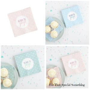 Baby shower napkins serviettes x 20 Table decor Pink mint blue Party