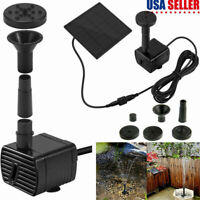 Solar Power Fountain Submersible Water Pump for Pond/Bird Bath/Water Circulation