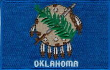"""Us State of Oklahoma Flag Embroidered Patches 3.5""""x2.25"""""""