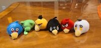 6 pcs Angry Birds Pencil Topper Plush Stuffed Finger Puppet Backpack USA Stock