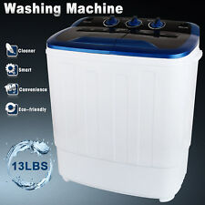 13LBS Mini Compact Portable Washing Machine Twin Tub Laundry Washer Spin Dryer