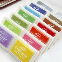 Multicolour Craft Ink Pad For Rubber Stamps Pads DIY Printing Wood Fabric Paper