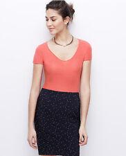 NWT Ann Taylor Coral Short Sleeve Cashmere Sweater - Medium