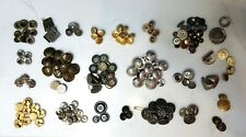 LARGE LOT OF 191 PIECES VINTAGE METAL SILVER GOLD BUTTON SETS NAUTICAL SHANK XLT