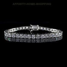 "D/VVS1 Simulated Diamond Platinum Clad Vintage Inspired Tennis 6 1/2"" Bracelet"