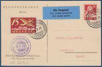 """Svizzera - 1925 - """"Competizione Aerea Militare di Dubendorf"""" - cat. SF 25.9 d."""