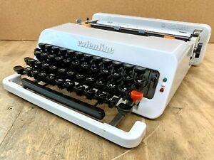 WHITE 1972 Olivetti Valentine Typewriter Antique Working Vtg Case Portable Pica