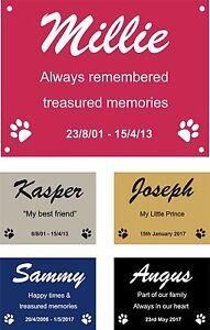 Personalised Pet Memorial Plaque Dog Cat Animal Engraved 8 x 6 cm Your wording