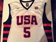 Equipo de baloncesto olímpico de EE Vintage Jersey Chaleco Reebok Kidd #5 réplica oficial