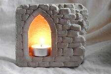 Stimmungsvoller Steintempel für Teelichter Windlicht Landhausstil Laterne