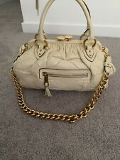 MARC JACOBS  Quilted Leather Gold Tone Hardware Stam Satchel Bag With Tags