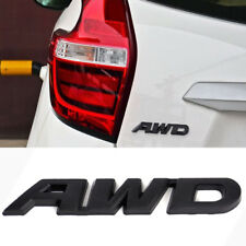 Black AWD Car SUV Metal Emblem Sticker Badge Decal for 4 Wheel Drive Tailgate