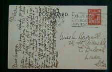 SLOGAN POSTMARK NEWCASTLE EXHIBITION 1929 CANCEL ON POSTCARD
