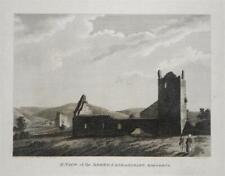 AGHAMACART ABBEY, QUEEN'S COUNTY, LAOIS, IRELAND, 1793 Antique Engraving Print