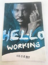 Lionel Richie Hello tour concert collectible backstage pass local working NEW