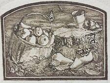Gravure Signées Paul Gilbert  Pears  Poires Eau Forte numérotées A/P