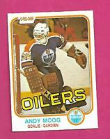 1981-82 OPC # 120 OILERS ANDY MOOG  ROOKIE EX-MT CARD (INV# D3493)