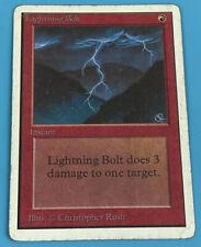 MTG Magic The Gathering Lightning Bolt Unlimited Version HP Heavy Play G Good