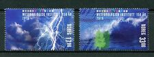 Noruega 2016 estampillada sin montar o nunca montada 150th Instituto meteorológico Ann 2v Set clima nubes sellos