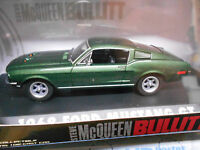 FORD Mustang GT Coupe 1968 McQueen Bullitt Movie Film TV Muscle V8 Greenlig 1:43