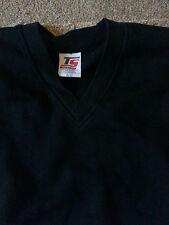 Boy Girl Children School Uniform black vneck sweatshirt age 11-12 top sport SALE