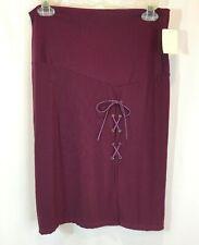 Nancy Closet Para Mujer Ciruela Con Cordones's Ojal Falda Talla Grande Nuevo Con Etiquetas