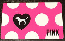 Victoria's Secret Canada Polka Dot PINK Doggie Collectible Gift Card French/Eng