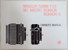 MINOLTAMC MACRO ROKKOR F 3,5/50 mm - Bedienungsanleitung / Anleitung Englisch
