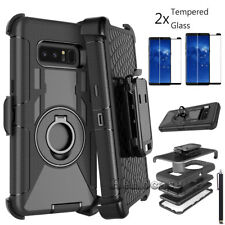 Samsung Galaxy Note 8 Defender Case With Belt Clip Holster & Screen Protector
