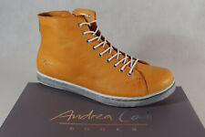 Andrea Conti Ankle Boots Orange Leather New