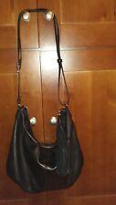 MARGOT BLACK LEATHER CROSSBODY / SHOULDER BAG...BEAUTIFUL !