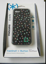 Apple iPhone Case 5 & 5S Speck FabShell BURTON - SPK-A1682   BLACK / colors  R1