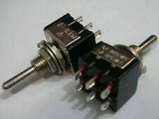 2,MINI DPDT Guitar ON ON ON Toggle Switch BK vc