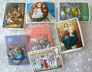 Stamp- A collection of Christmas & Stamp Other Stamps - lot of 7 (Used & Unused