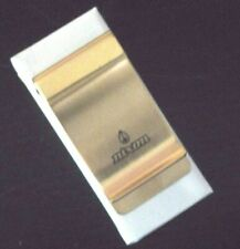 Nixon Badge All Metal Money clip Gold Cast Iron Laser Etched NIB Ships Free