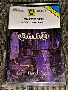 Entombed ‎– Left Hand Path. VG Cassette Tape Plays Well Rare Death Metal.MG