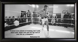 Muhammad Ali Framed Photo Motivational Poster