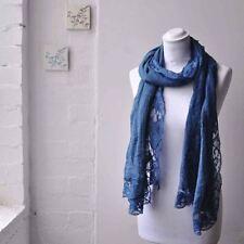 Sciarpe, foulard e scialli da donna blu 100% Cotone