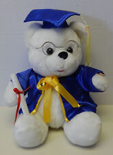 Graduation Teddy Bear w/Glasses Diploma Cap & Gown Teddy Bear Plush Toy