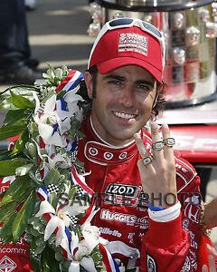 DARIO FRANCHITTI 2012 3X INDY 500 WINNER RINGS AUTO RACING 8X10 PHOTO
